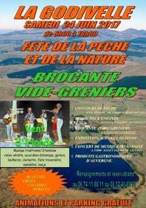 Samedi 24 juin à la Godivelle - Fête de la pêche et de la nature - Brocante - Vide-greniers